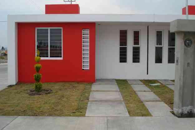 Casas de infonavit rojas