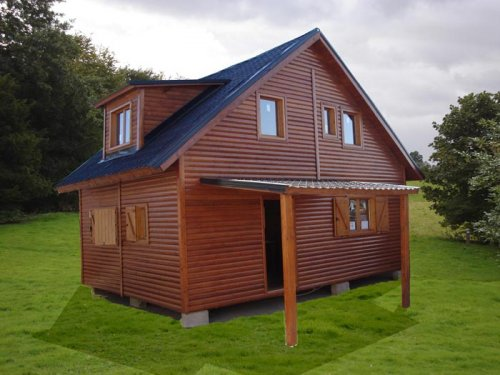 Casas de madera prefabricadas for Casas de jardin de madera baratas