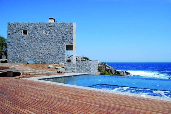 Casas de playa piedra