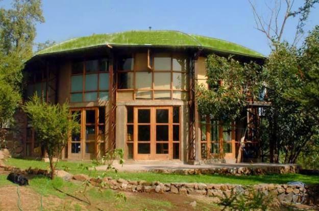 Casas ecologicas fachadas