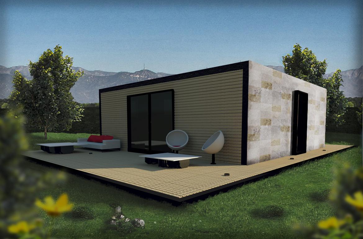 Casas modulares for Casa moderna baratas