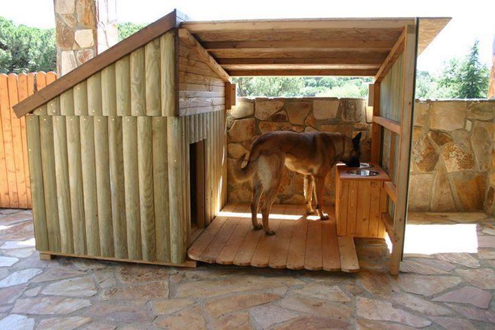 Casas para perros madera