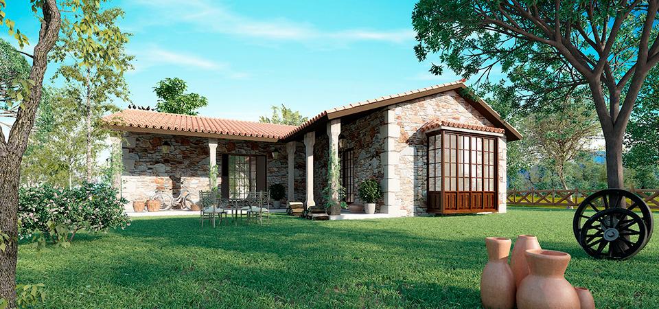 Casas rusticas for Casas rusticas de ladrillo