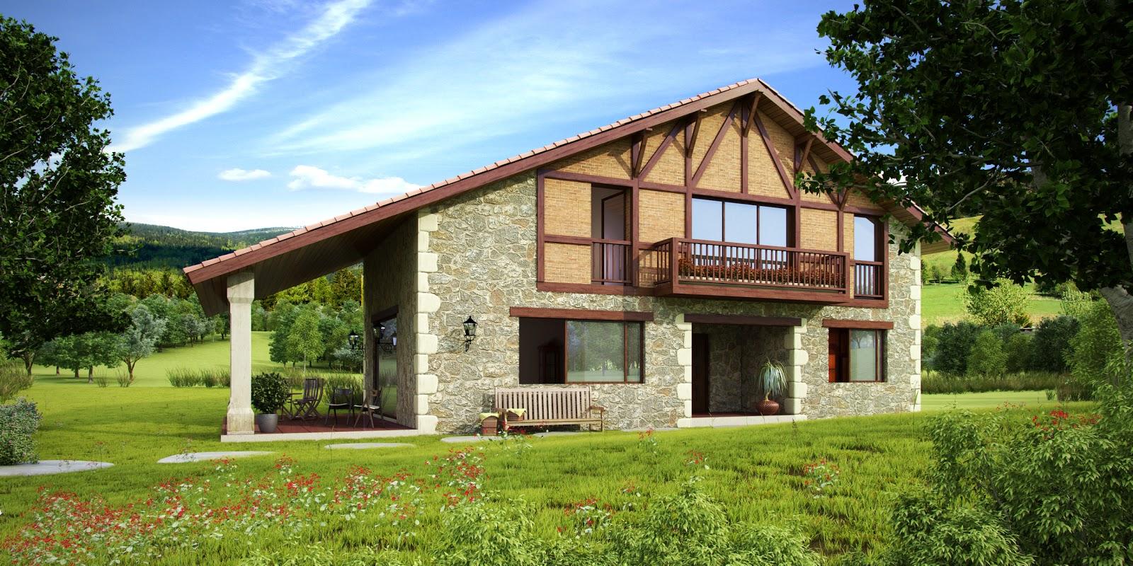 Casas rusticas - Casas de piedra y madera ...