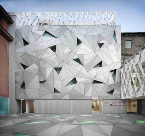 Fachadas arquitectónicas modernas