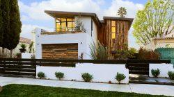 Fachadas de casas de dos plantas