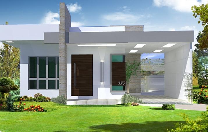 Fachadas casas modernas plano