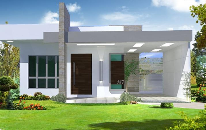 Fachadas casas modernas for Viviendas de una planta modernas