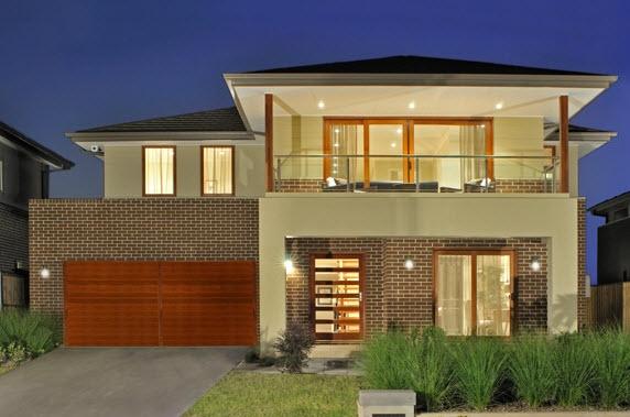 Fachadas de casas de 2 pisos for Modelos de techos para casas de dos pisos