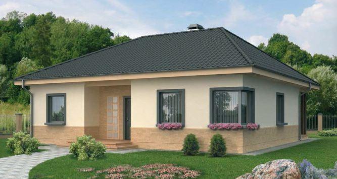 Fachadas de casas de un piso for Fachada tradicional