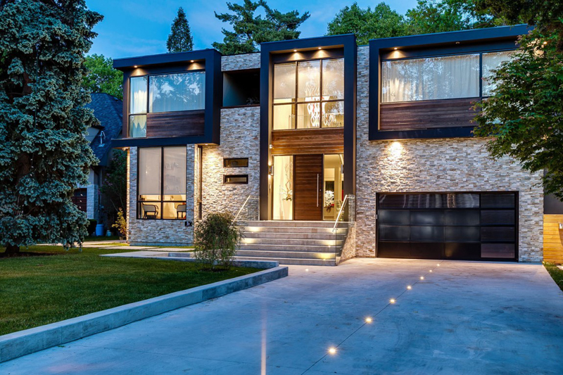 Fachadas de casas dos plantas