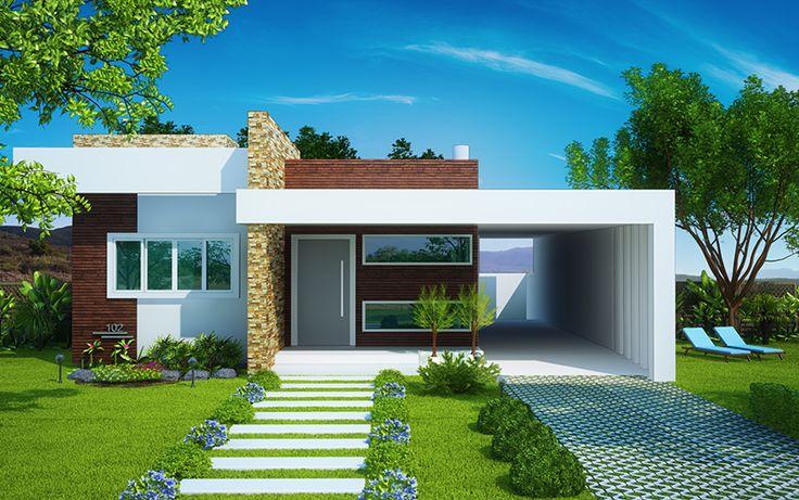 Fachadas de casas de una planta - Fachadas de casas de una planta ...
