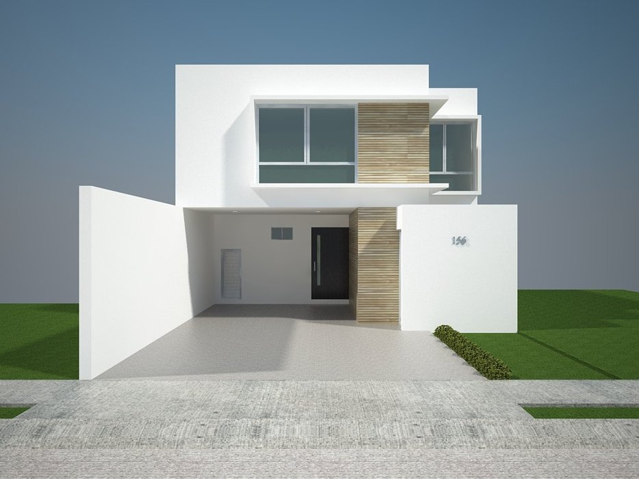 fachadas minimalistas On casas blancas minimalistas