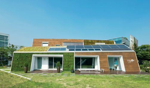 Fachadas para casas ecologicas