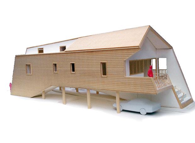 Maquetas de casas for Casa moderna maqueta