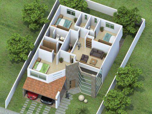 Maquetas de casas for Como hacer un diseno de una casa en 3d