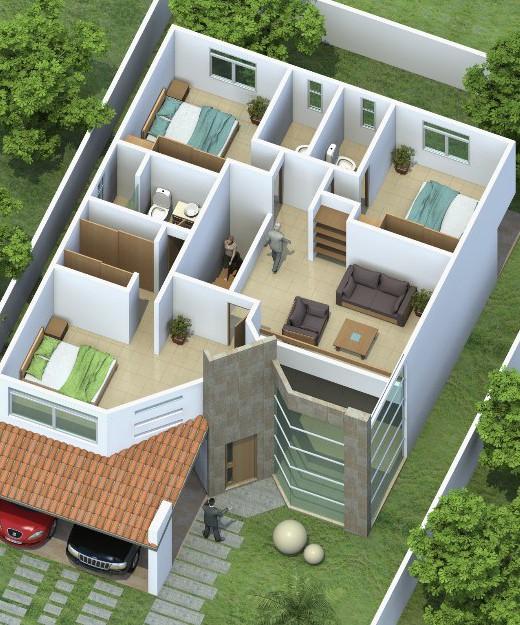 Maquetas de casas for Casa minimalista maqueta