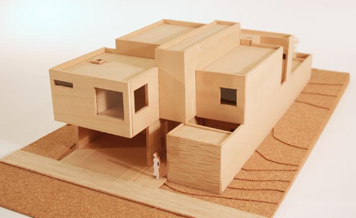 Arquitectura creativa eco art julio 2015 for Casa minimalista maqueta