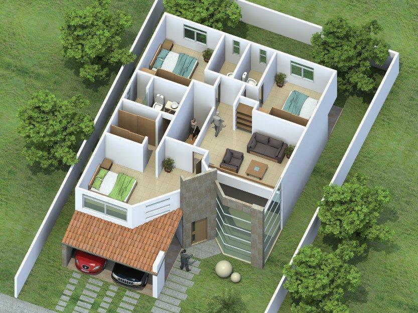 Maquetas de casas for Diseno de oficinas inmobiliarias