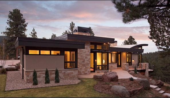 Fachadas de casas de una planta for Fachadas casas modernas de una planta