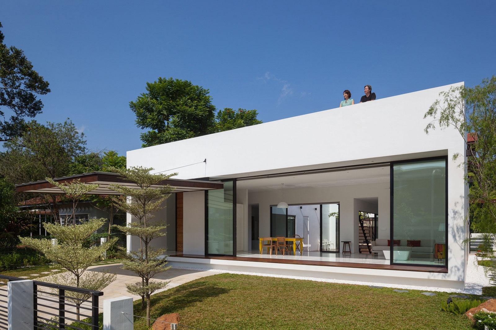 Modelos de casas modernas for Fotos de casas modernas de una planta