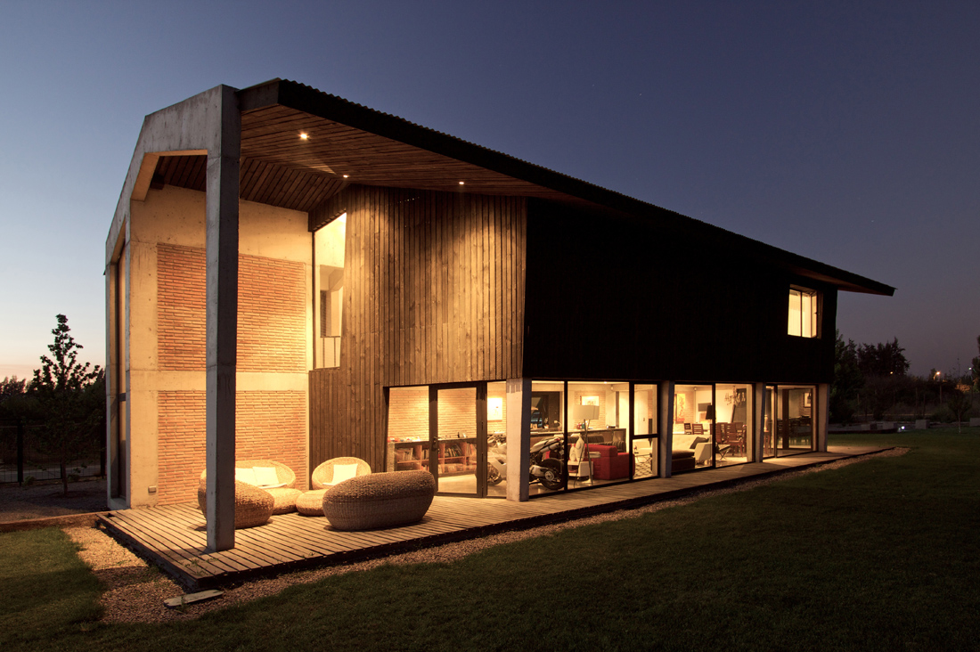Modelos de casas de campo for Casa moderna en el campo