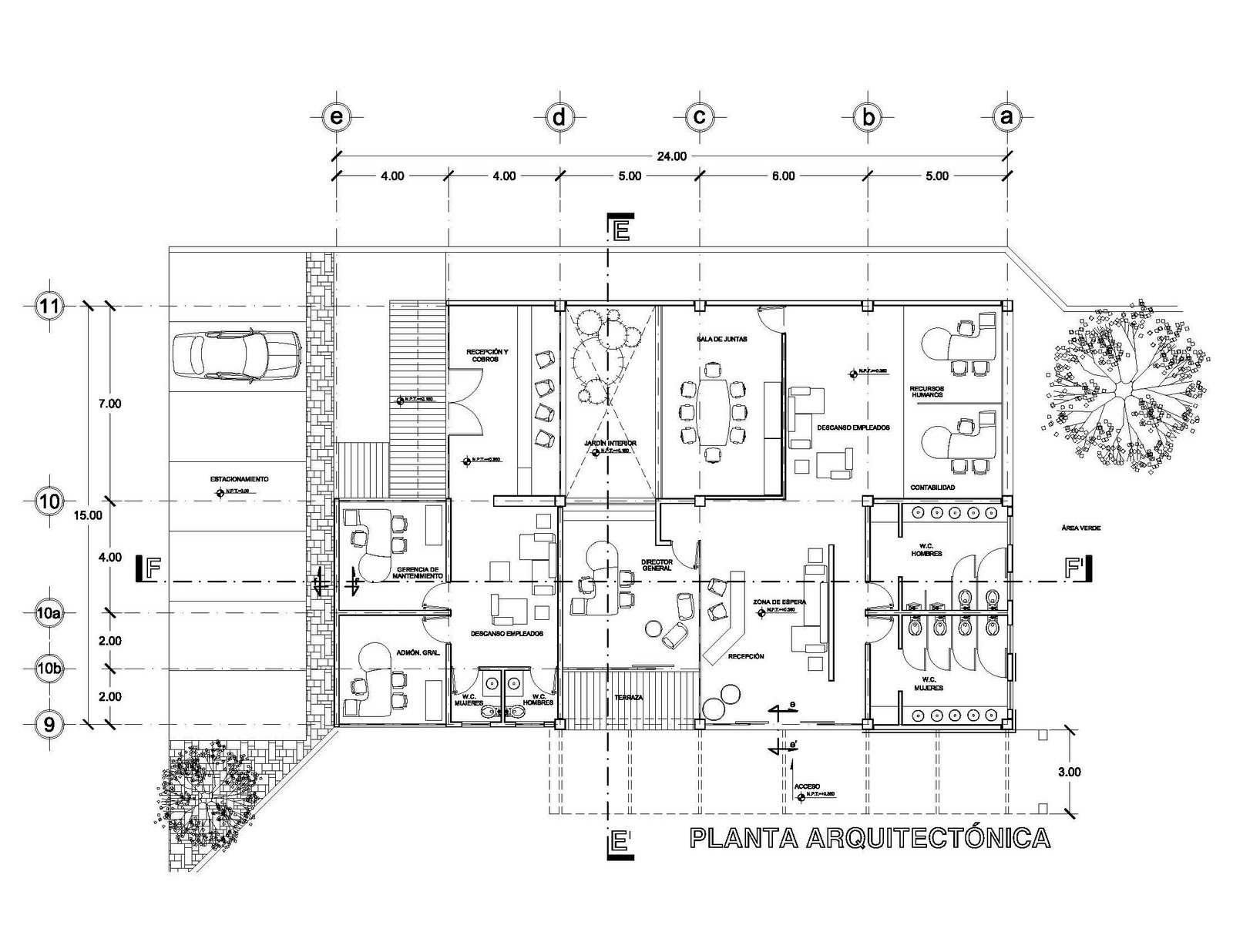 Planos arquitect nicos for Que es una planta arquitectonica