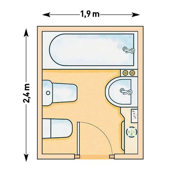 Muebles de ba o en planta arquitectonica for Medidas de muebles para planos arquitectonicos