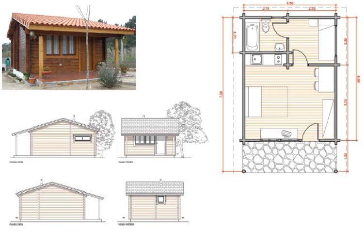 Planos de caba as planos arquitectonicos for Planos de cabanas campestres
