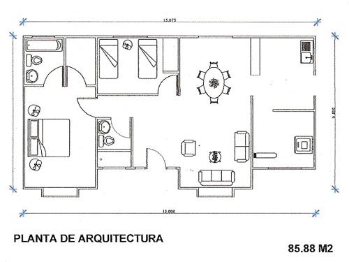 Planos casas planos arquitectonicos - Plano de una casa ...