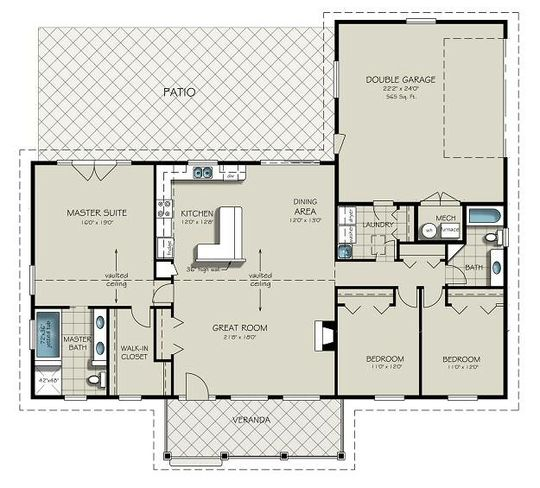 Planos casas de campo
