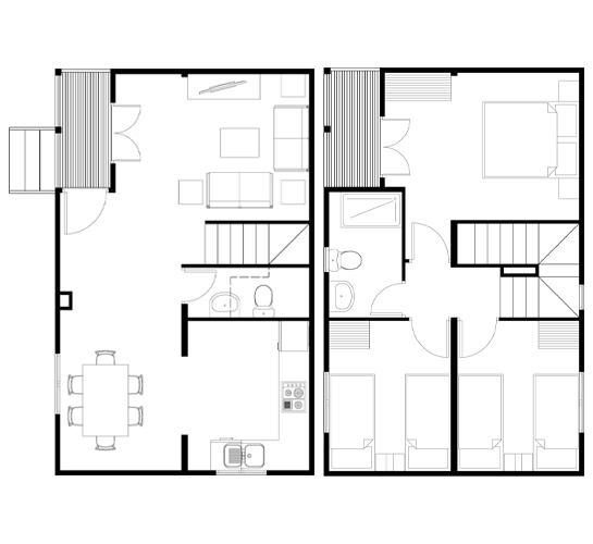 Planos de casas de dos plantas - Planos de casas modernas de una planta ...