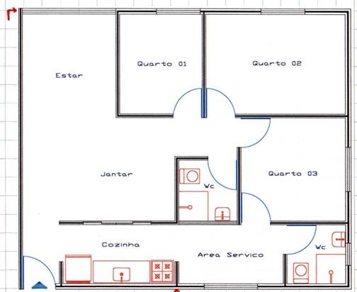 Planos de casas de una planta for Plano casa una planta