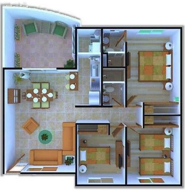 Planos casas for Planos y fachadas de casas pequenas