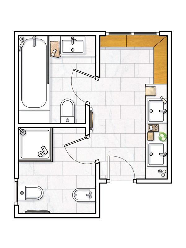 Planos de ba os for Que es un plano arquitectonico