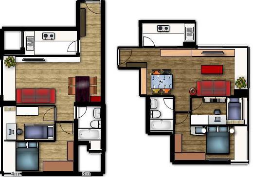 Planos de casas de una planta for Viviendas modernas de una planta
