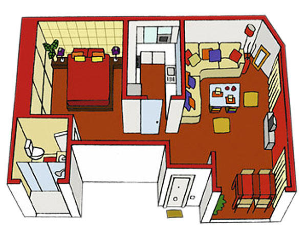 Planos de casas gratis for Planos para cocina mejorada