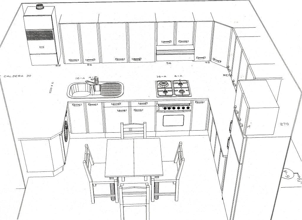 Planos de cocinas for Programa de diseno de cocinas integrales