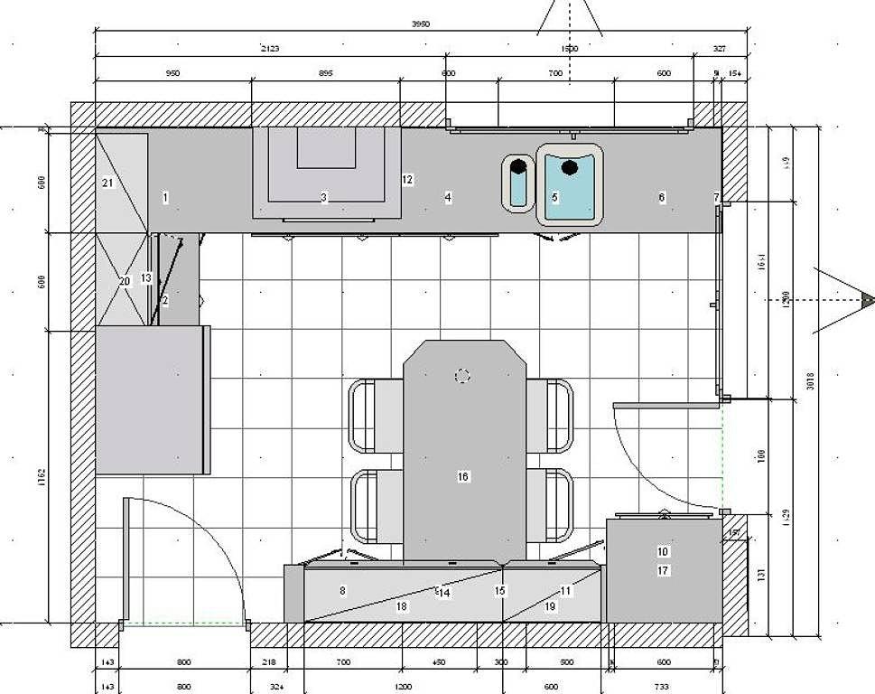 Fotos y planos de muebles de cocina for Planos de cocinas autocad