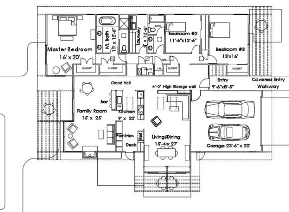 Planos para casas for Dimensiones arquitectonicas