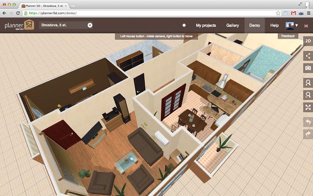 Programas para hacer planos for Programas de diseno de interiores 3d gratis