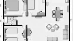 Pequeños planos de casas, planos de planta