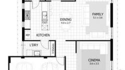 Planos de la casa de la unidad de la abuela, planos de planta,