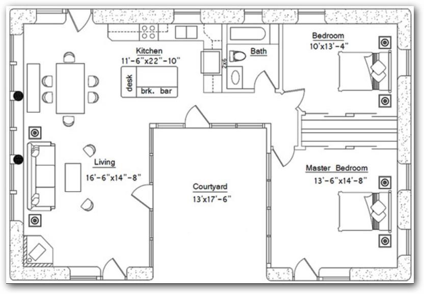 Planos de viviendas for Planos de casas con patio interior